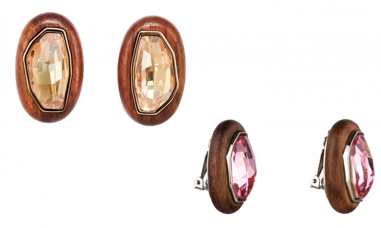 AS Designer Collection, Kotur -  Wood Crystallized, Multi_Palladium, Drop Pierced Earrings, Angle 2, HR.jpg