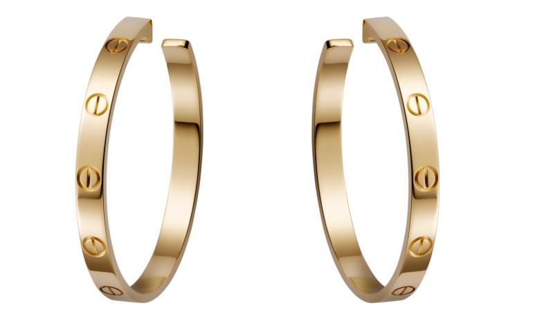 Cartier Yellow Gold Earrings.jpg