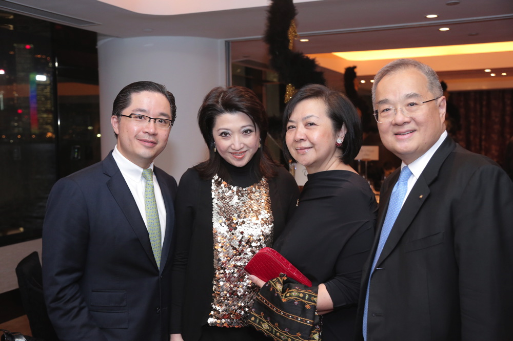 Raymond Chow, Kathy Chow, Betty Cheng and Moses Cheng