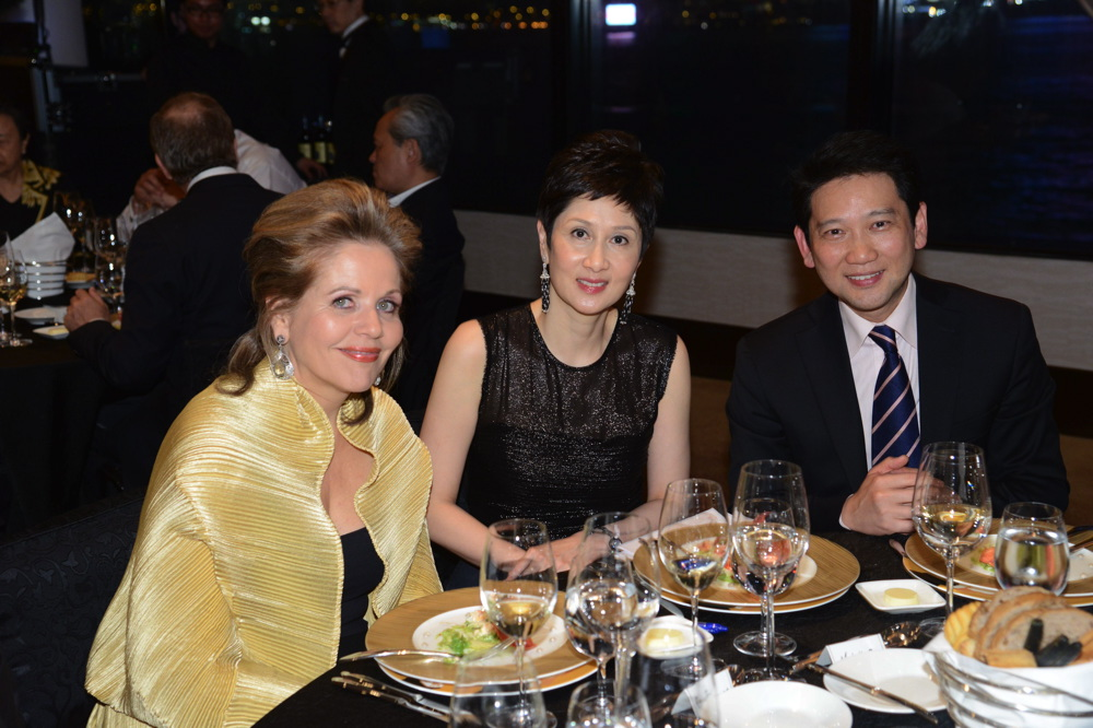 Renée Fleming, Michelle Ong-Cheung and Raymond Young