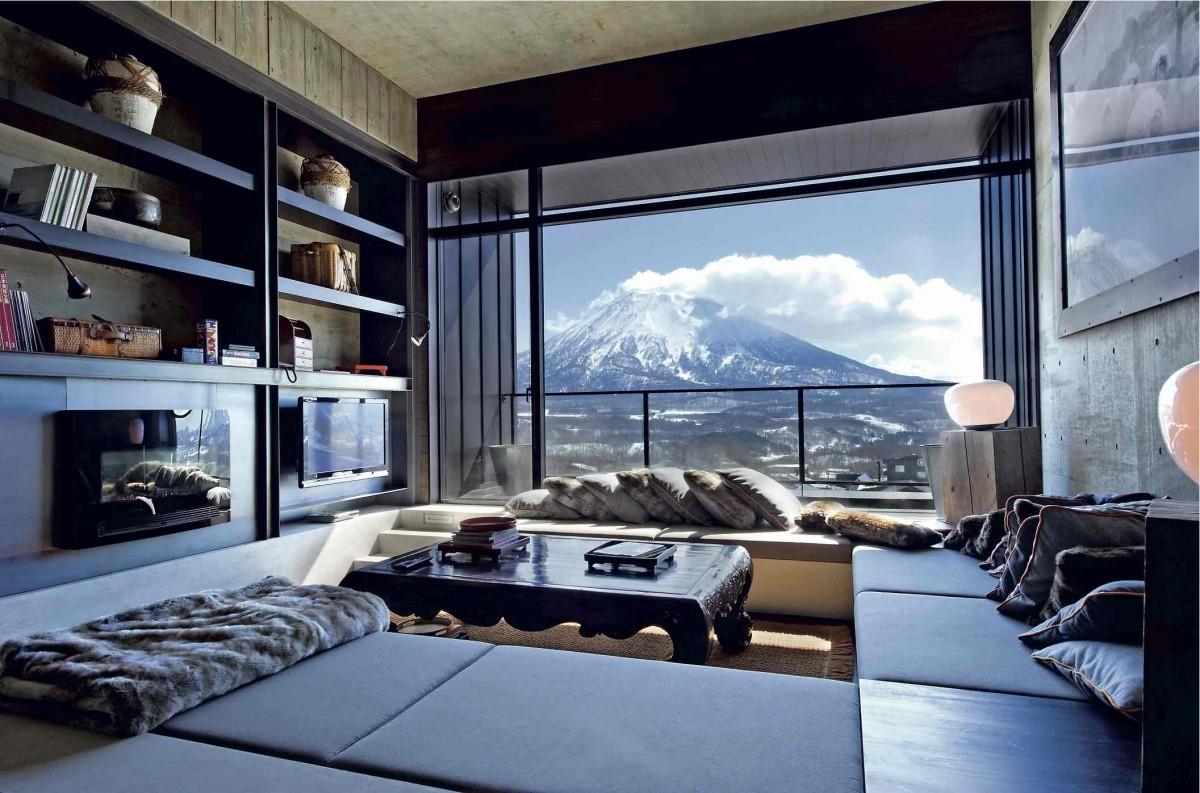 Mount Yotai from a lounge