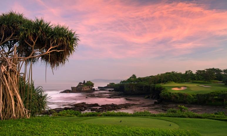 7th tee shot at Nirwana Bali Golf Club at Pan Pacific Nirwana Bali Resort.jpg