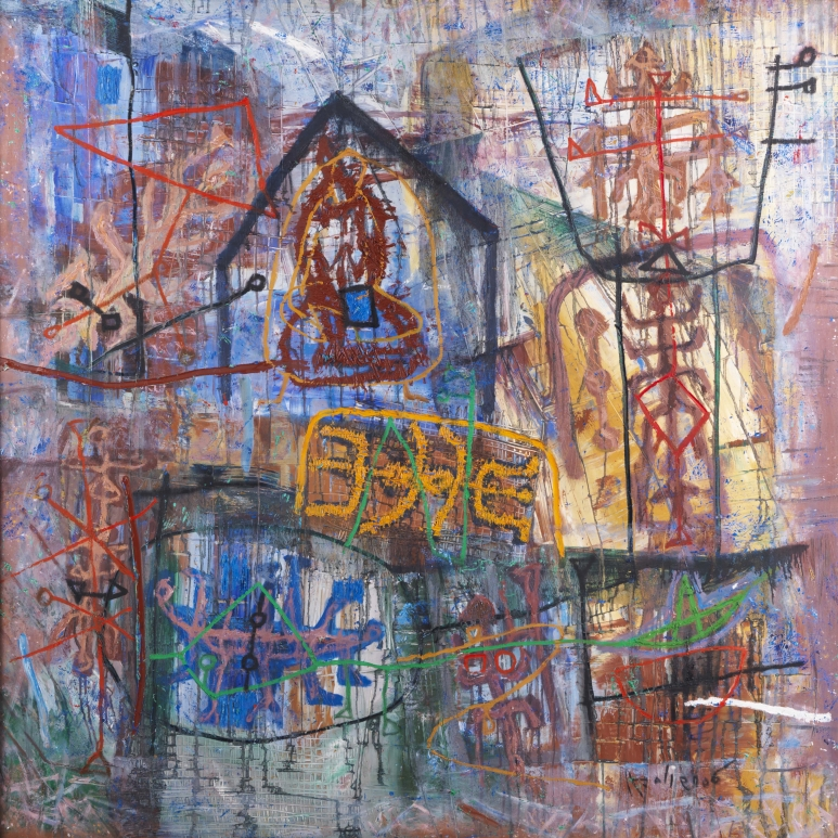 Le Trieu Dien_Traces 2_2006_Oil on canvas_150 x 150 cm_Galerie Dumonteil, Paris, Shanghai and New York.jpg