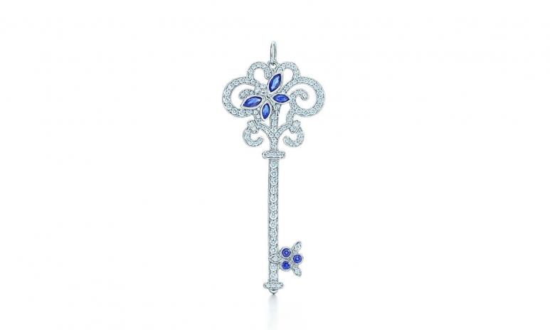 6-Tiffany Keys Enchant diamond dragonfly key pendant in platinum with sapphires.jpg