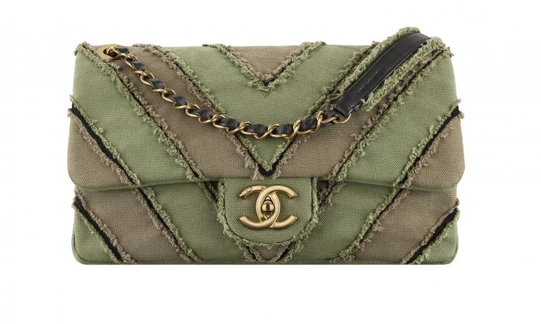 2. A93717-Y61146-3B095-Khaki patchwork toile bag with a CC lock.jpg