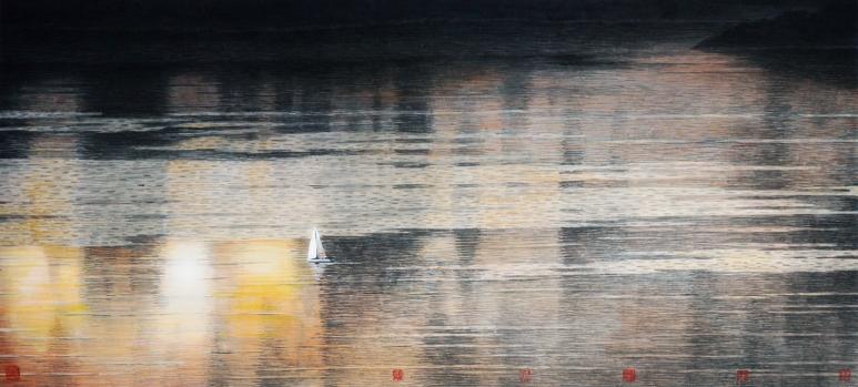 黃孝逵Wong Hau Kwei_清水居2014·07·01 Clear Water Bay 1st July 2014_設色紙本Ink and colour on rice paper_ 68 x 136 cm_2014_榮寶齋(香港)有限公司,香港.jpg