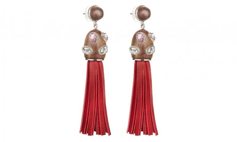 AS Designer Collection, Kotur - Wood Crystallized, Multi_Palladium, Pierced Tassel Earrings, Angle 1, HR.jpg