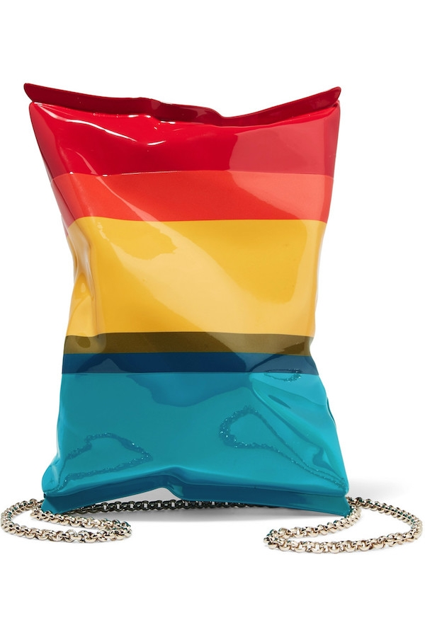 ANYA HINDMARCH Crisp Packet II striped metal shoulder bag.jpg