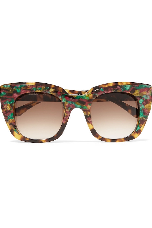 THIERRY LASRY Intimacy square-frame tortoiseshell acetate sunglasses.jpg