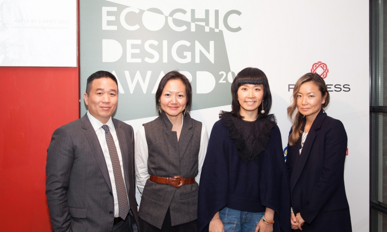 EcoChic Design Award 2017_International Judging Panel_Roger Lee CEO TAL Group, Michelle Bang CEO BYT, Johanna Ho, Joanna Gunn Chief Branding Officer Lane Crawford.jpg