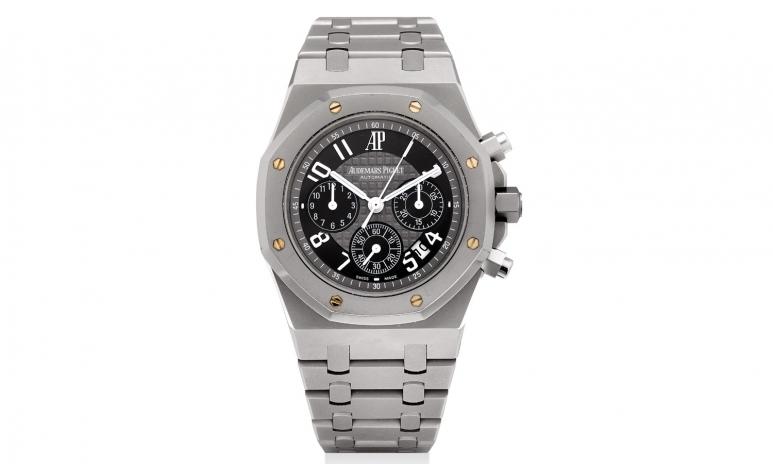 _1007_Audemars Piguet. A fine and rare sandblasted titanium special edition chronograph bracelet watch.jpg