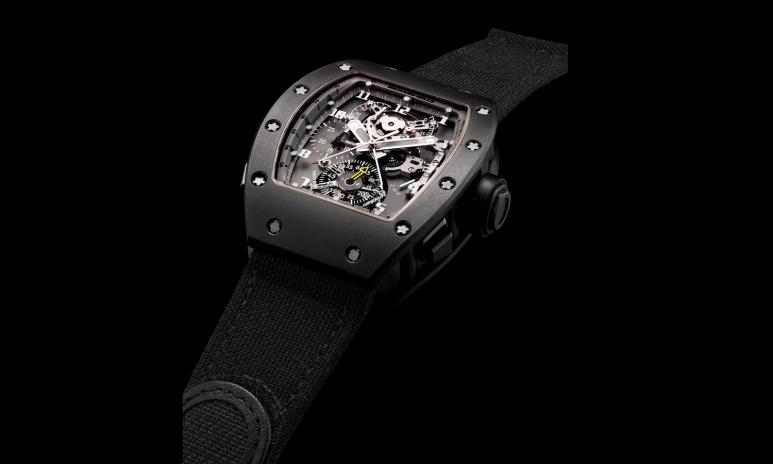 1_1033_Richard Mille. An important and unique DLC-treated titanium tonneau-shaped split seconds chronograph tourbillon RM008 wristwatch with Richard Mille electric guitar, circa 2006_2.jpg