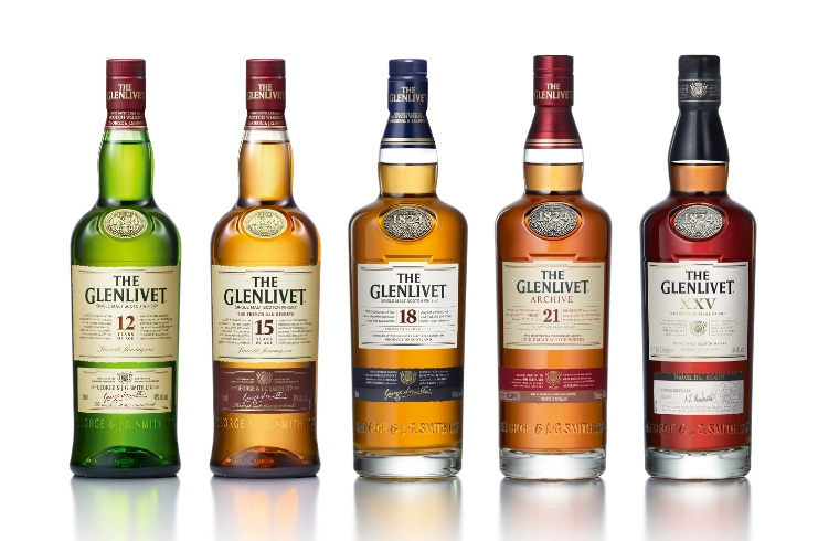 The Glenlivet bottles