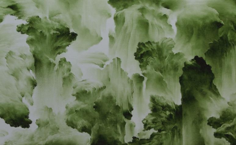 Moon Beom 文凡 b.1955 Slow, Same #676 緩慢,相同 #676, 2008 Acrylic and oil stick on panel 布面、油畫棒、丙烯 55 x 153 x 7 cm; 21 5_8 x 60 1_4 x 2 3_4 in. .jpg